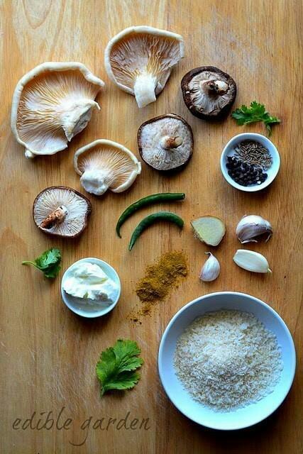 mushroom tikki ingredients
