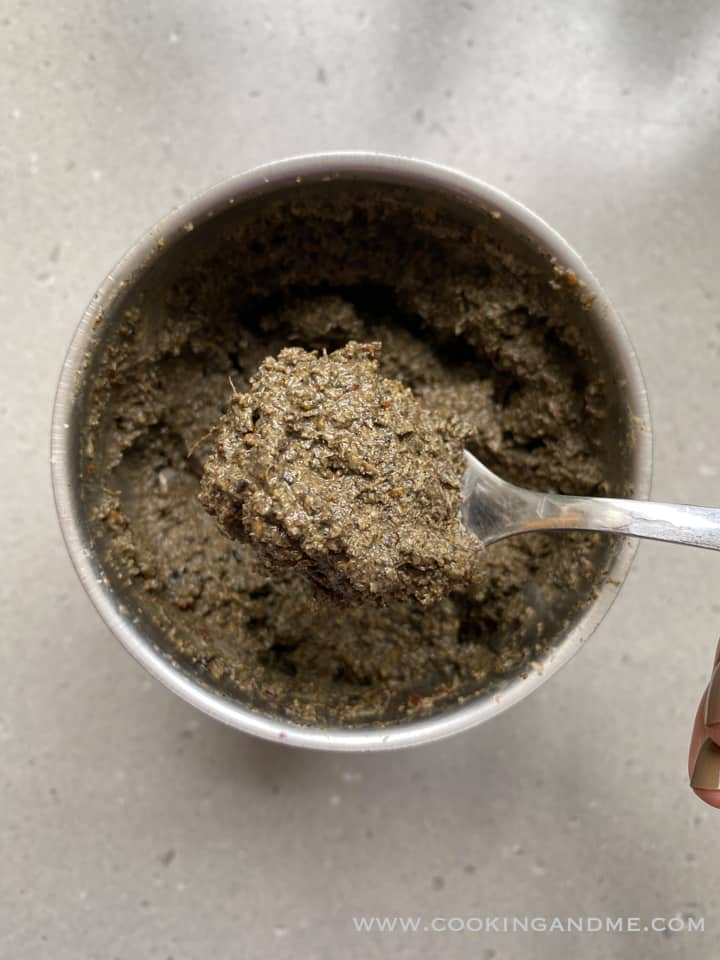 ellu chutney after grinding